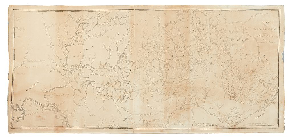 BARKER, ELIHU; and CAREY, MATHEW. A Map of Kentucky from Actual Survey By Elihu Barker.