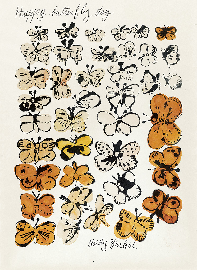 ANDY WARHOL Happy Butterfly Day.