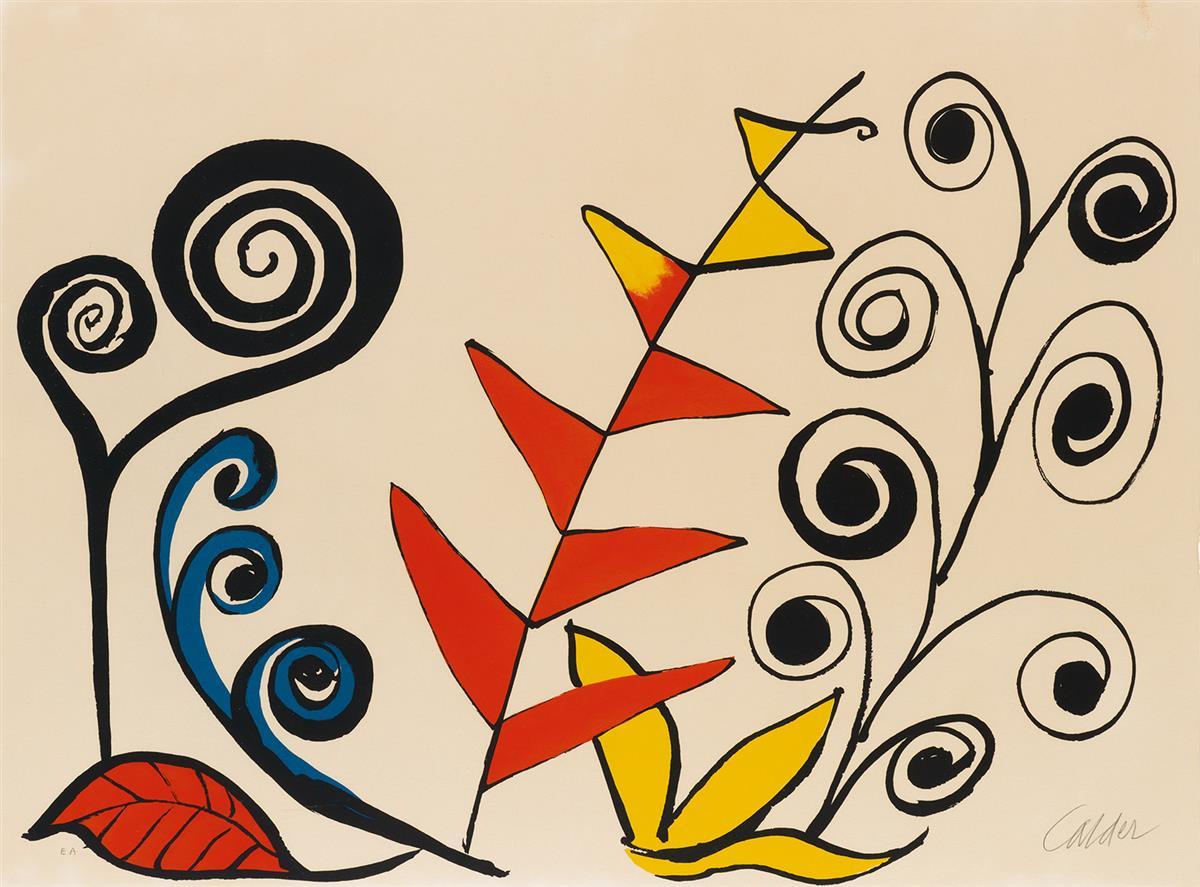 ALEXANDER-CALDER-Composition-with-Fern-Spirals-and-Leaves
