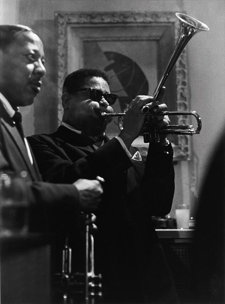 ROY DECARAVA (1919-2009) Dizzy Gillespie and Roy Eldridge.