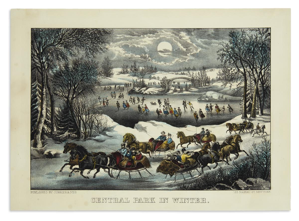 CURRIER--IVES-Central-Park-in-Winter