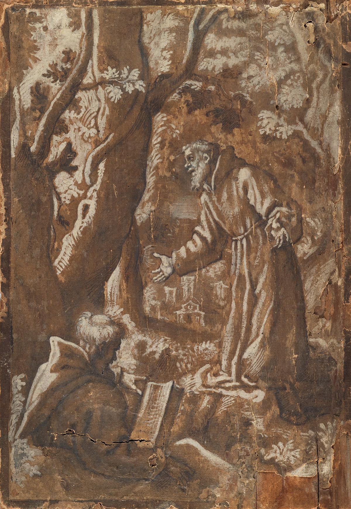 ITALIAN-SCHOOL-LATE-16TH-CENTURY-Two-Monks-in-the-Wilderness