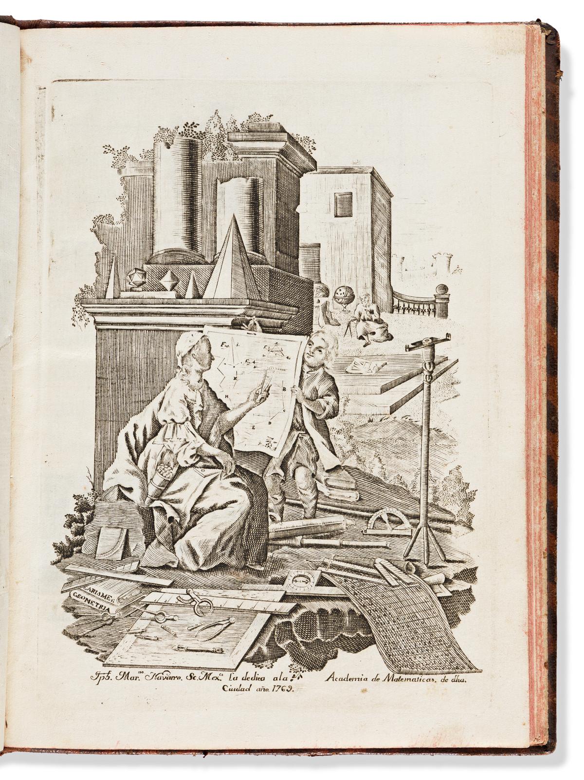 Bartolache, José Ignacio (1738-1790) Lecciones Matematicas, que en la Real Universidad de Mexico Dictaba.