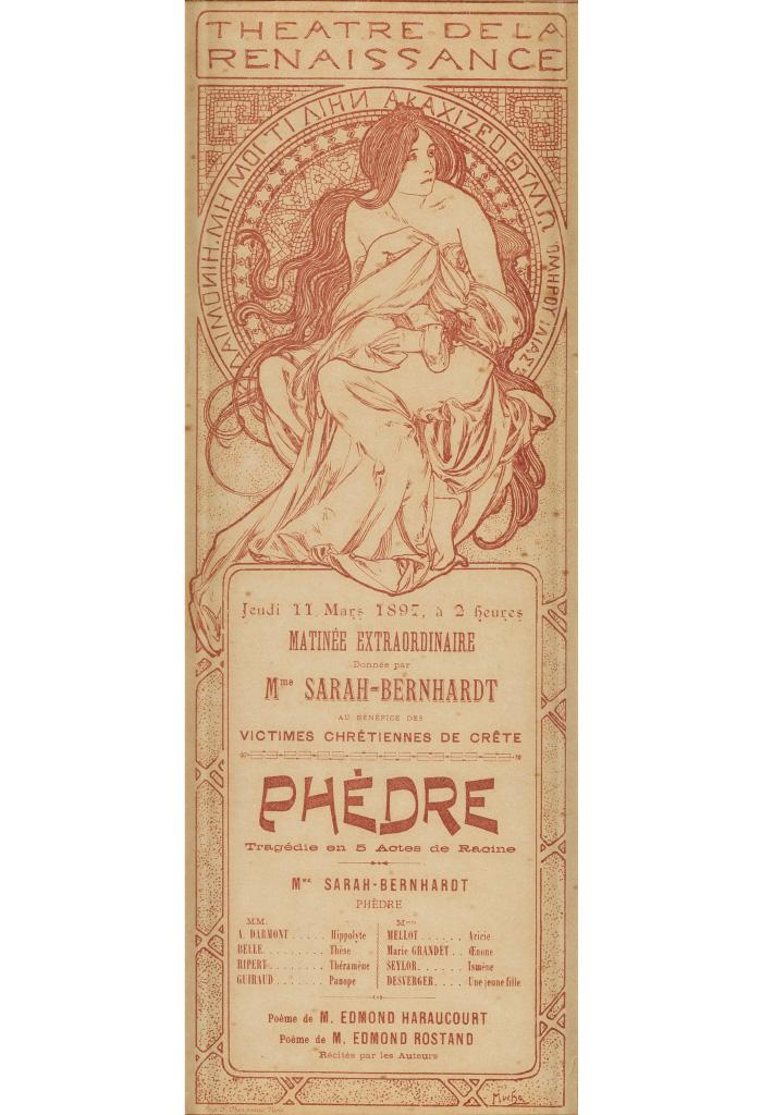 ALPHONSE-MUCHA-(1860-1939)-THEATRE-DE-LA-RENAISSANCE--SARAH-