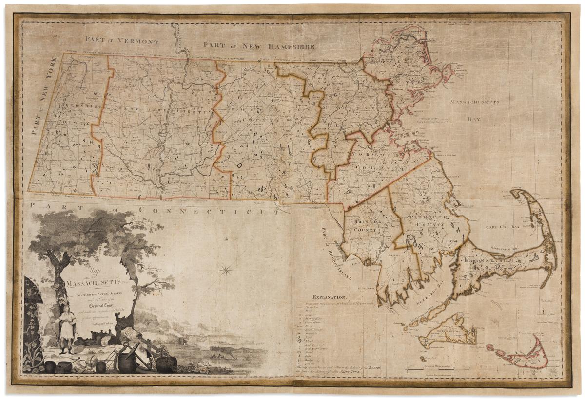 (MASSACHUSETTS.) Carleton, Osgood. Map of Massachusetts Proper.