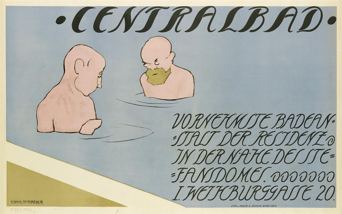 HERMANN-GROM-ROTTMAYER-(1877-1953)-CENTRALBAD-1912-24x38-inc
