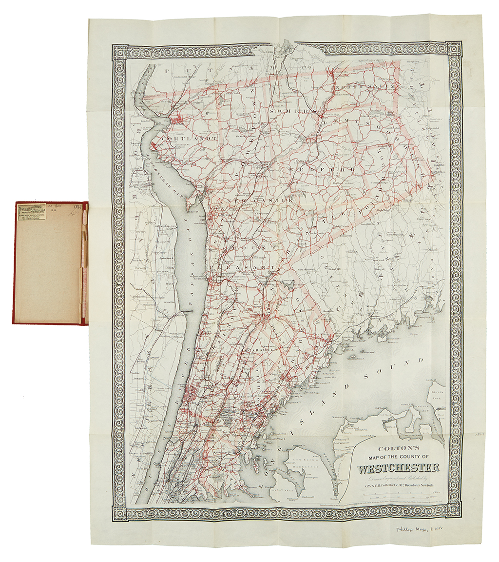 COLTON, GEORGE W. Coltons Map of the County of Westchester.