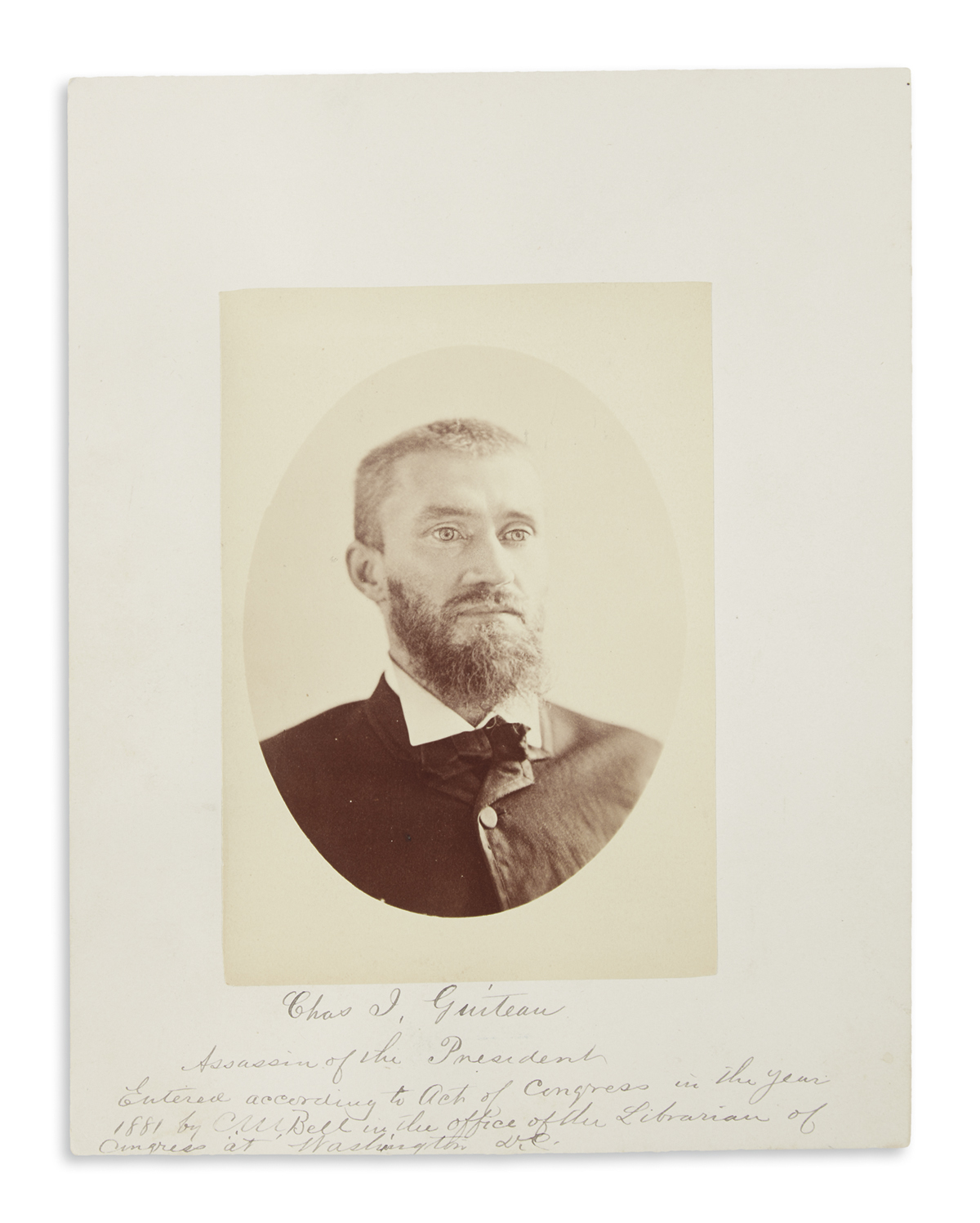 (GARFIELD ASSASSINATION.) Collection of autographs, photographs, and ephemera relating to the Garfield assassination.