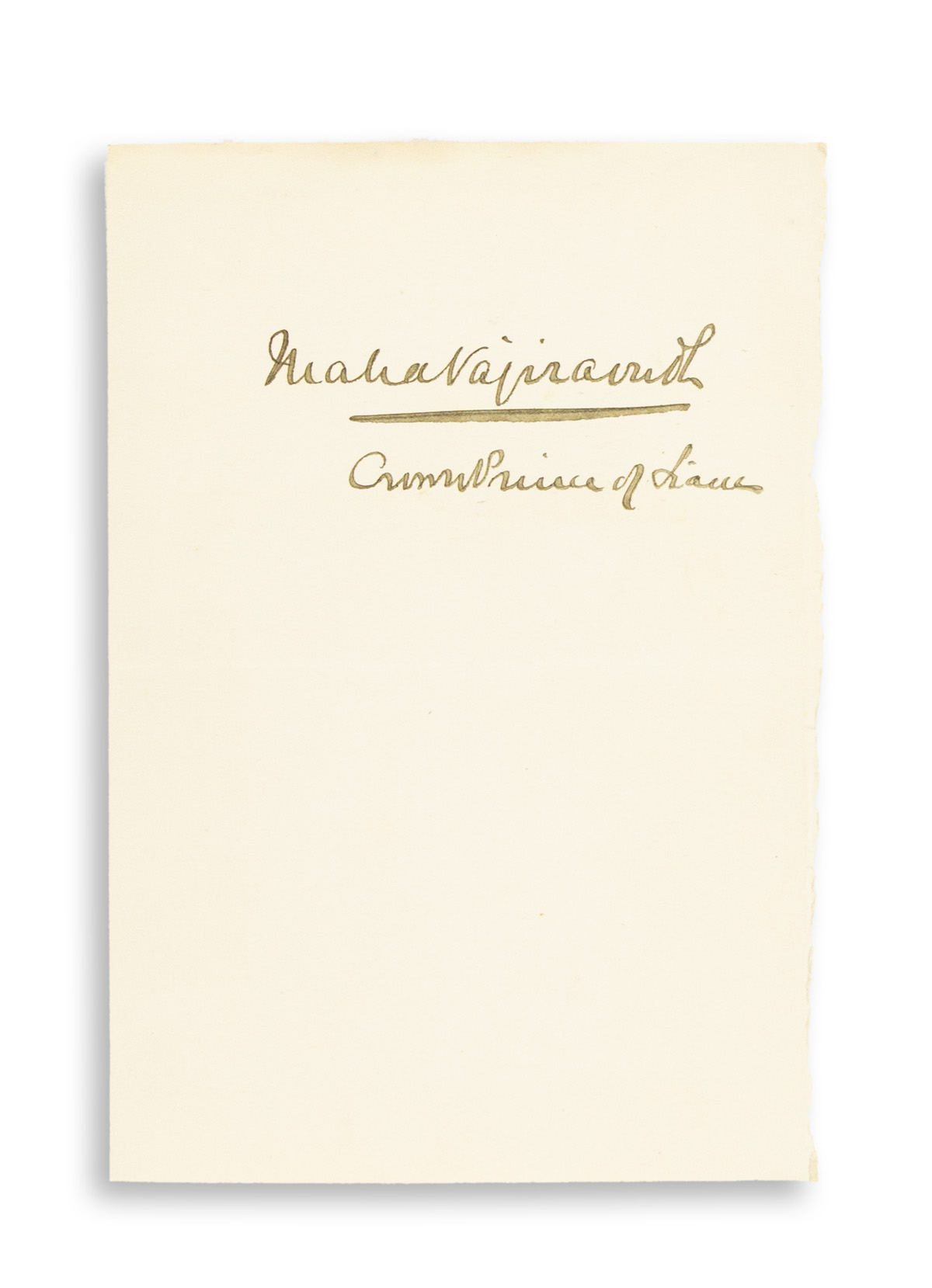 VAJIRAVUDH;-KING-OF-SIAM-Signature-MahaVajiravudh--CrownPrin