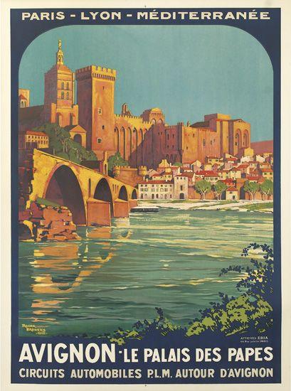 ROGER-BRODERS-(1883-1953)-AVIGNON---LE-PALAIS-DES-PAPES-1922