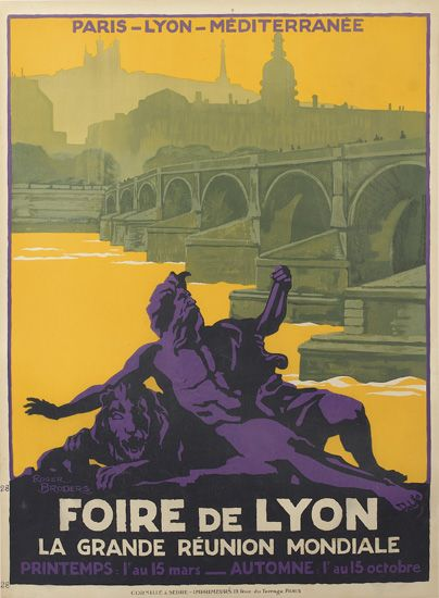 ROGER-BRODERS-(1883-1953)-FOIRE-DE-LYON-Circa-1920-41x30-inc