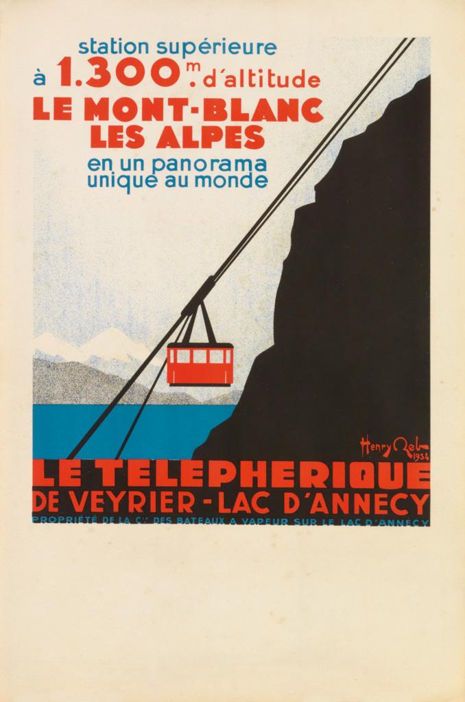 HENRY-REB-(1883-1959)-LE-TELEPHERIQUE-1934-19x13-inches-50x3