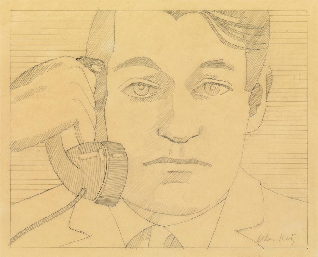 ALEX KATZ Portrait of John Ashbery.