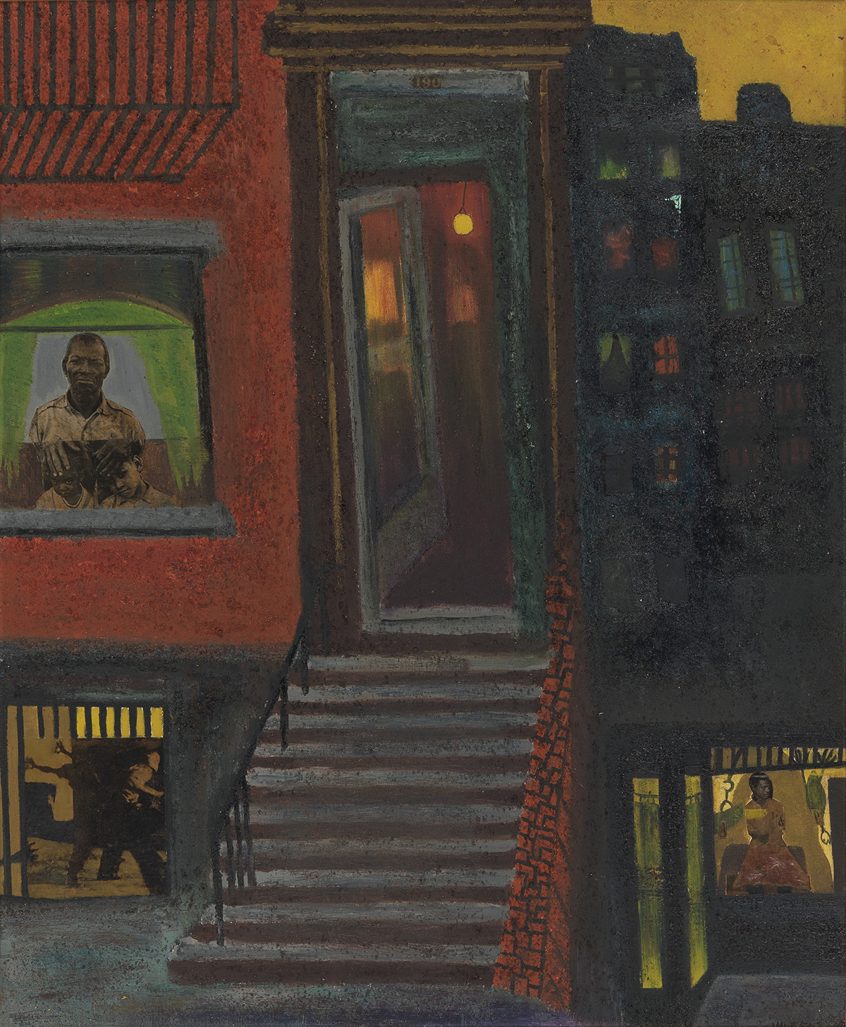 VINCENT D. SMITH (1929 - 2003) Untitled (Brownstone Stairs).