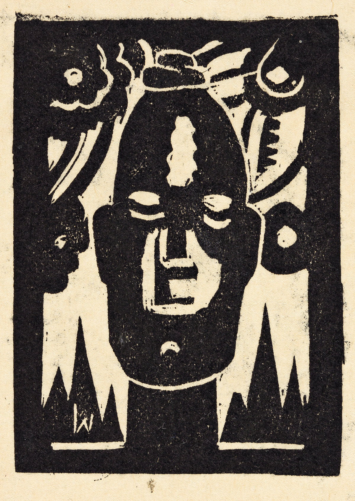 JAMES LESESNE WELLS (1902 - 1992) Untitled (African Fetish).