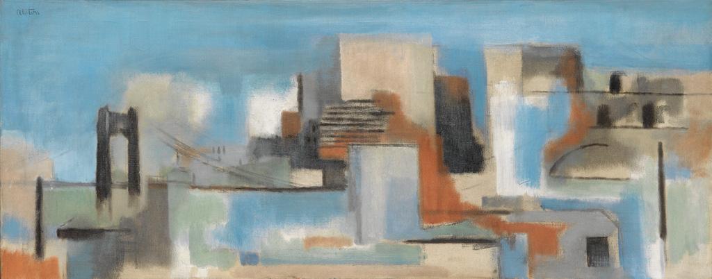 CHARLES ALSTON  (1907 - 1977) The Bridge.