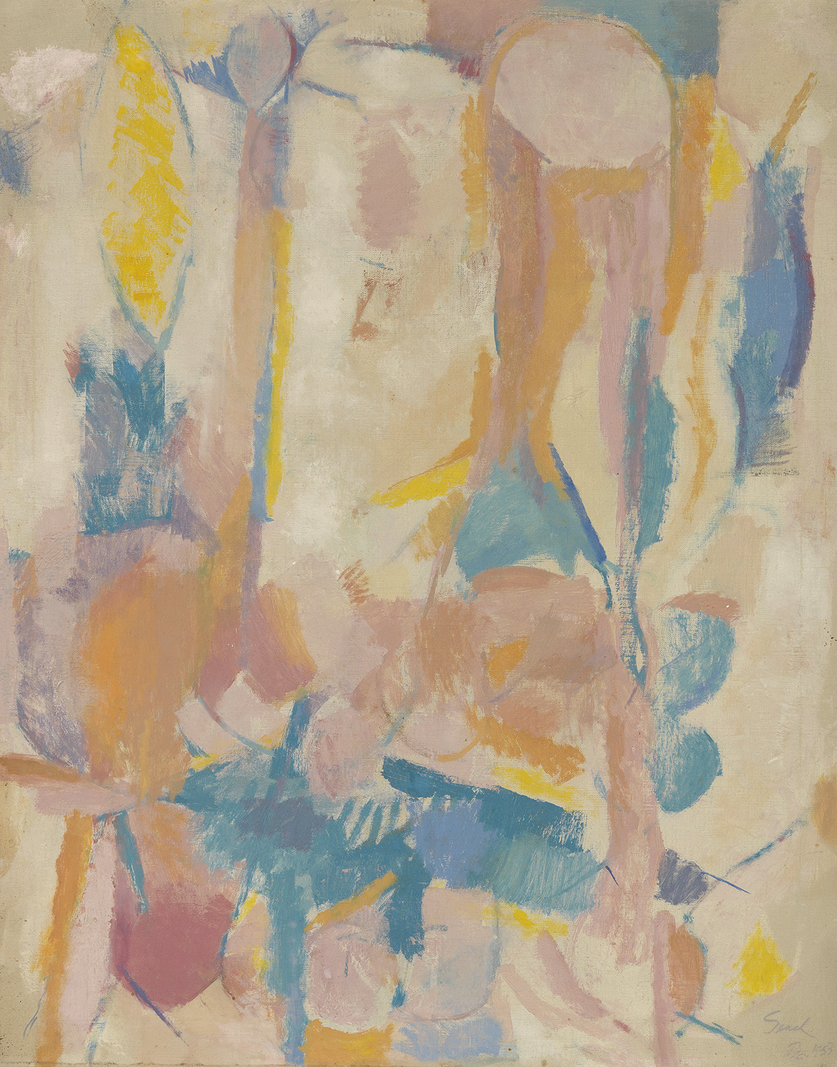 VICTOR-SEACH-(1918---1991)-Untitled-(Abstract-Composition)