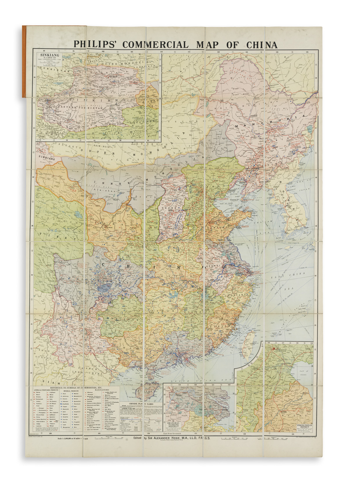 (CHINA)-Philip-George--Son-Philips-Commercial-Map-of-China