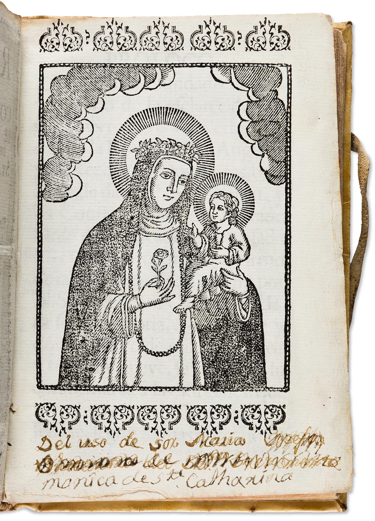 (MEXICAN IMPRINT--1746.) Regla y constituciones de las religiosas de la Gloriosa Virgen Sta. Rosa Maria de Lima . . . de la Puebla