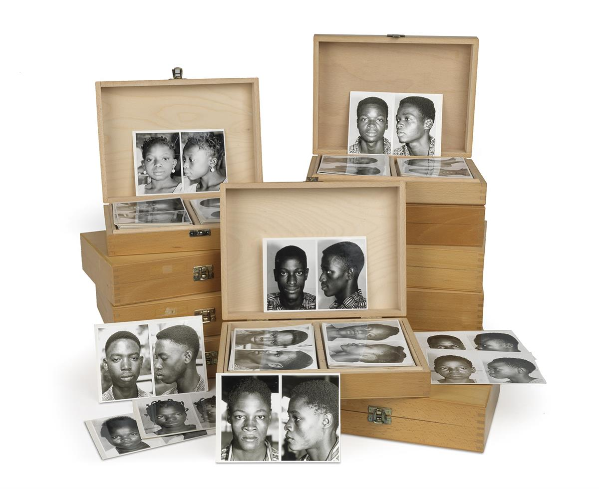 (ANTHROPOLOGY--FACES OF AFRICA) A massive and typological archive including more than 2000 anthropological studies of young Africans, u