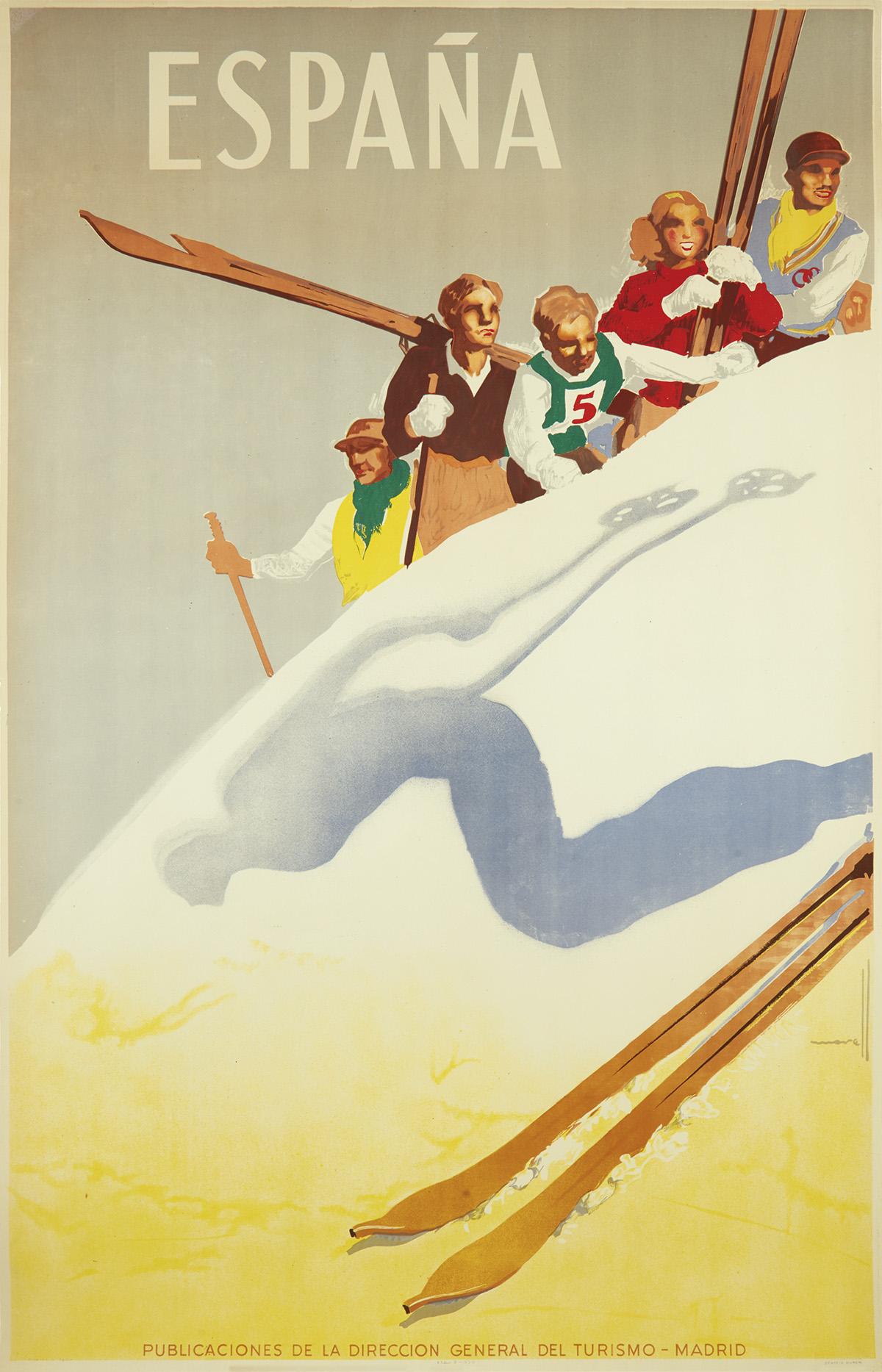 JOSÉ MORELL (1899-1949). ESPAÑA. 1948. 39x24 inches, 99x62 cm. Grafica Manen, Spain.
