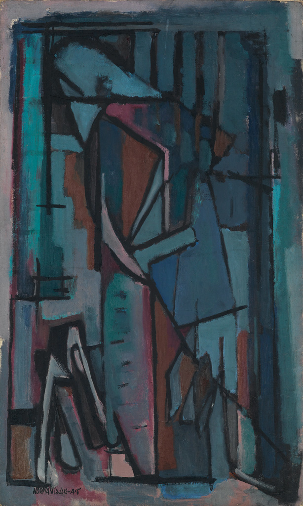 NORMAN LEWIS (1909 - 1979) Untitled (Figurative Abstraction).