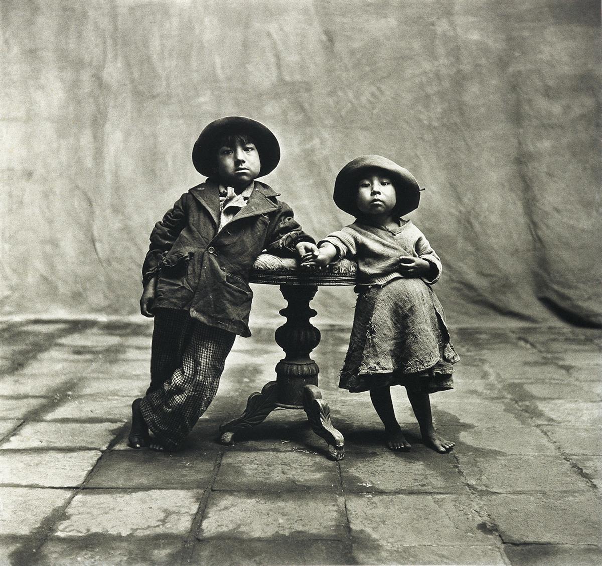 IRVING-PENN-(1917-2009)-Cuzco-Children-Peru-December