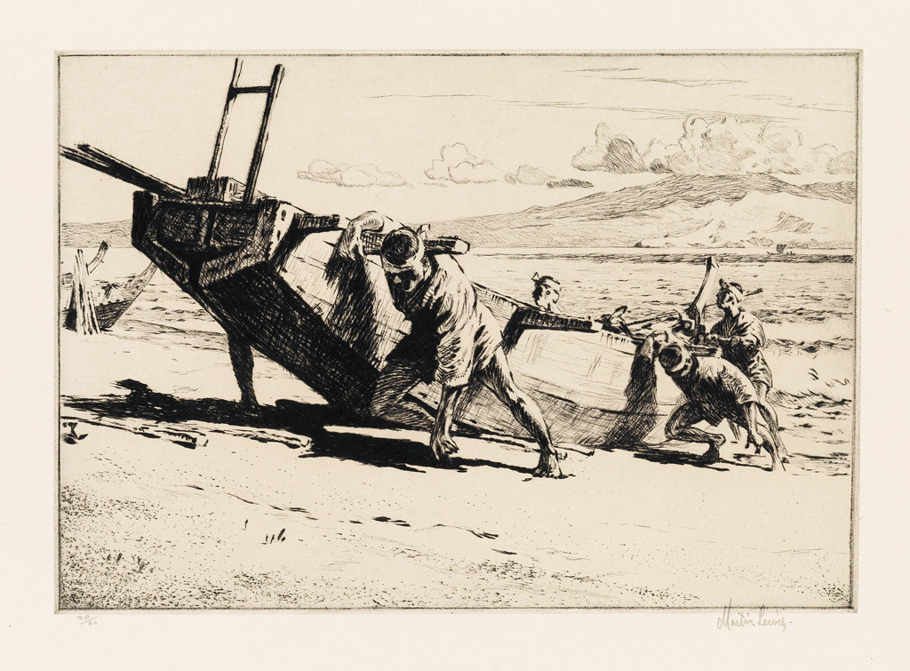 MARTIN-LEWIS-Beaching-the-Boat