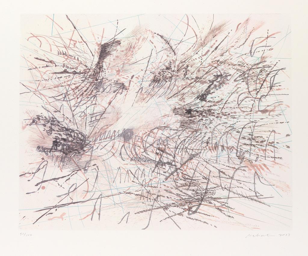 JULIE MEHRETU (1970 -  ) Untitled (Pulse).