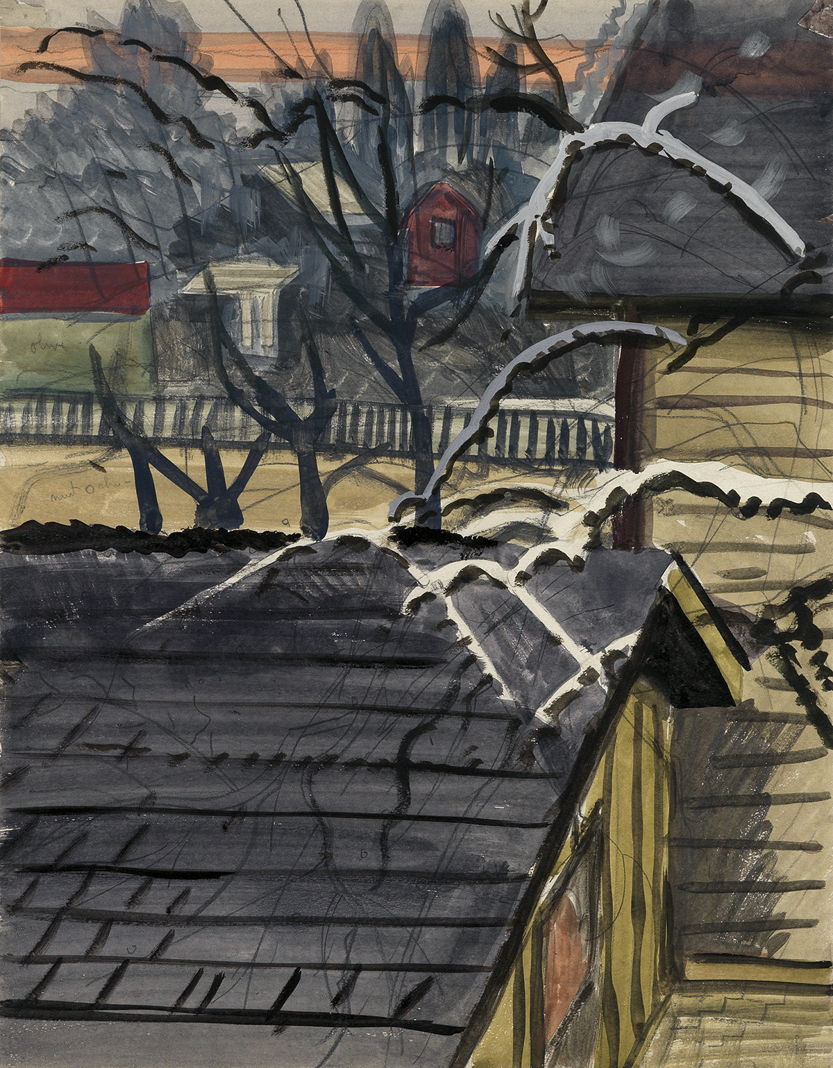CHARLES-BURCHFIELD-Houses-in-Winter