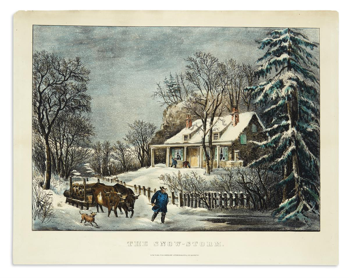 CURRIER--IVES-The-Snow-Storm