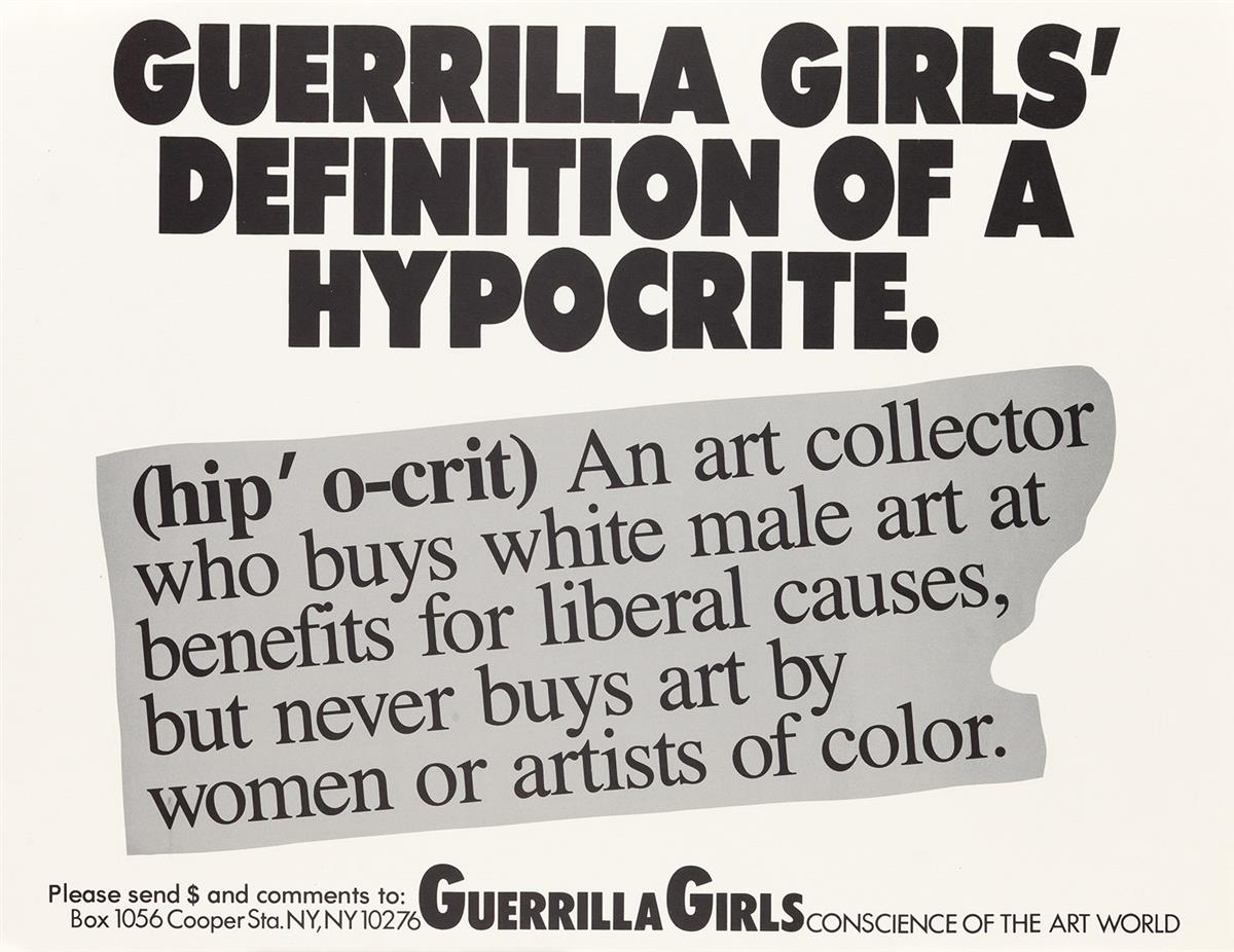 GUERRILLA-GIRLS-[CONSCIENCE-OF-THE-ART-WORLD]-Group-of-5-posters-1985-1990-Each-22x17-inches-55x43-cm