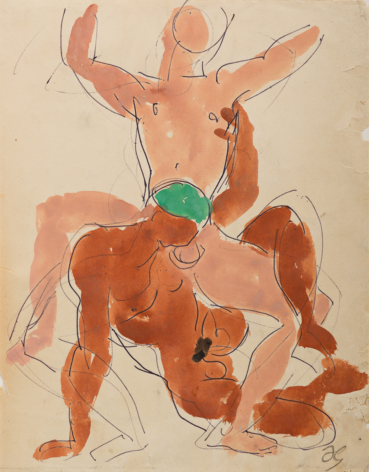 DUNCAN-GRANT-(1885-1978)-Two-Male-Nudes