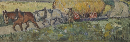 PALMER HAYDEN (1890 - 1973) Untitled (Hay Wagon).