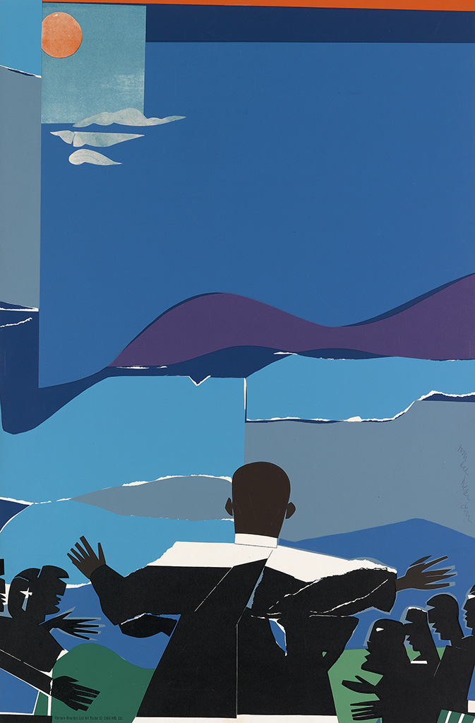 ROMARE BEARDEN (1911 - 1988) Martin Luther King, Jr. - Mountain Top.