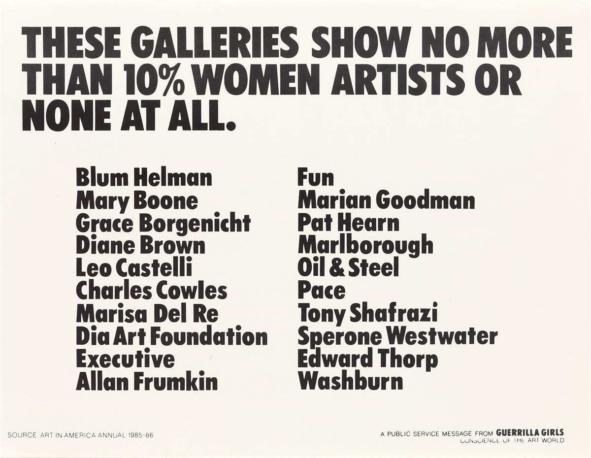 GUERRILLA-GIRLS-[CONSCIENCE-OF-THE-ART-WORLD]-Group-of-6-posters-1985-1991-Each-22x17-inches-55x43-cm