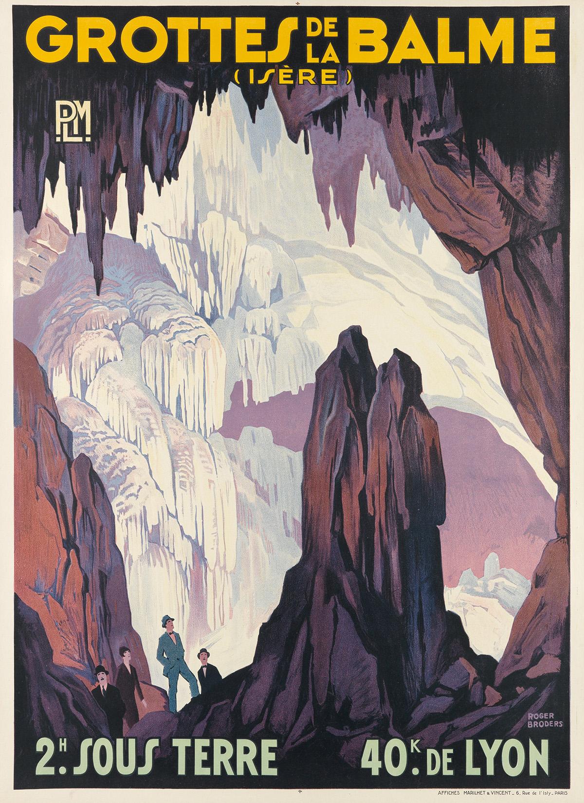 ROGER-BRODERS-(1883-1953)-GROTTES-DE-LA-BALME-Circa-1928-41x
