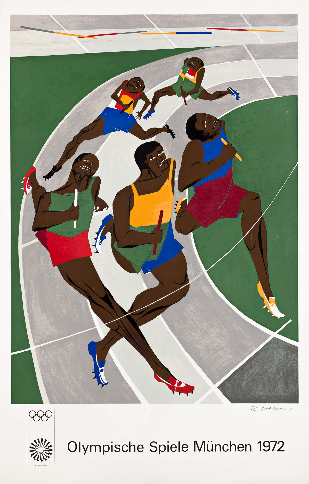 JACOB LAWRENCE (1917 - 2000) Olympic Games.
