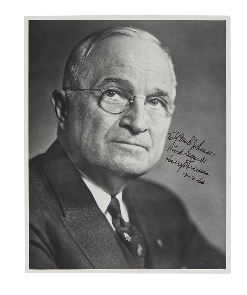 ROOSEVELT, FRANKLIN D.; AND HARRY S. TRUMAN. Three items: Typed Letter Signed by FDR, as President, to Senator Truman * Photograph Sign