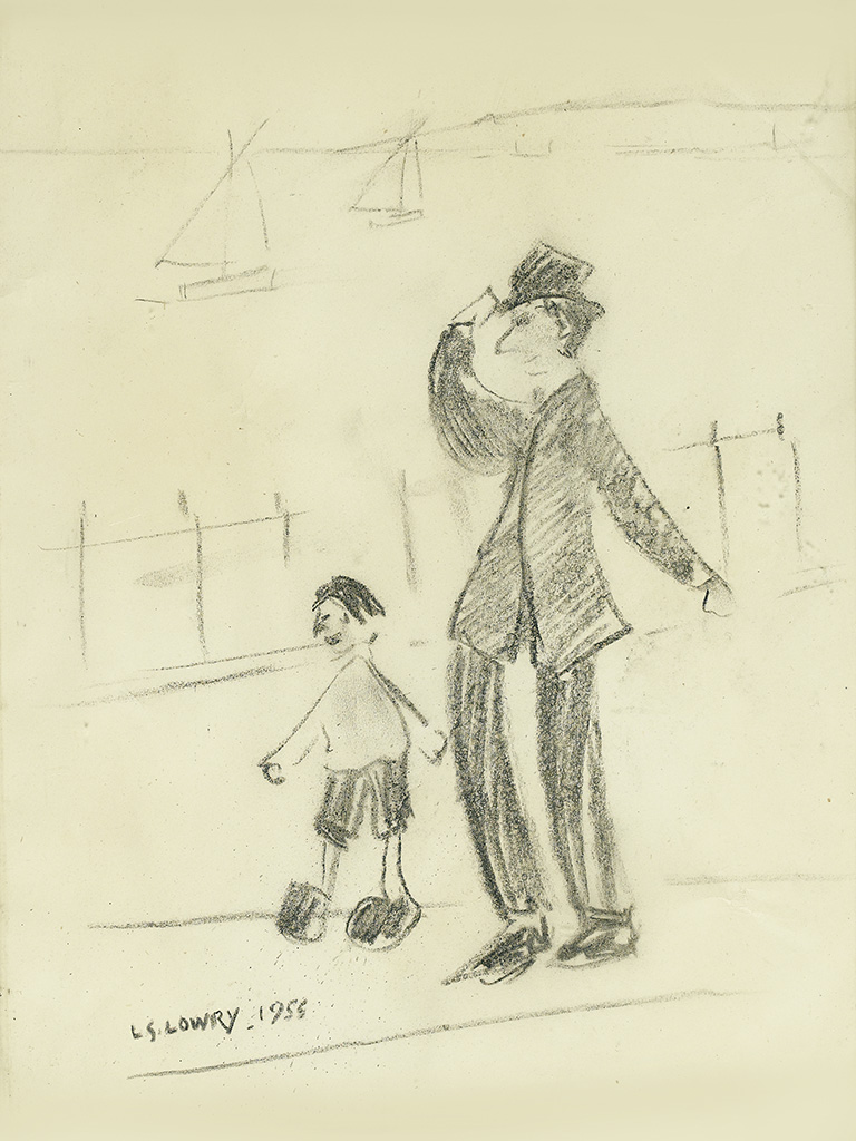 LAURENCE STEPHEN LOWRY. Windy Day - Southport.