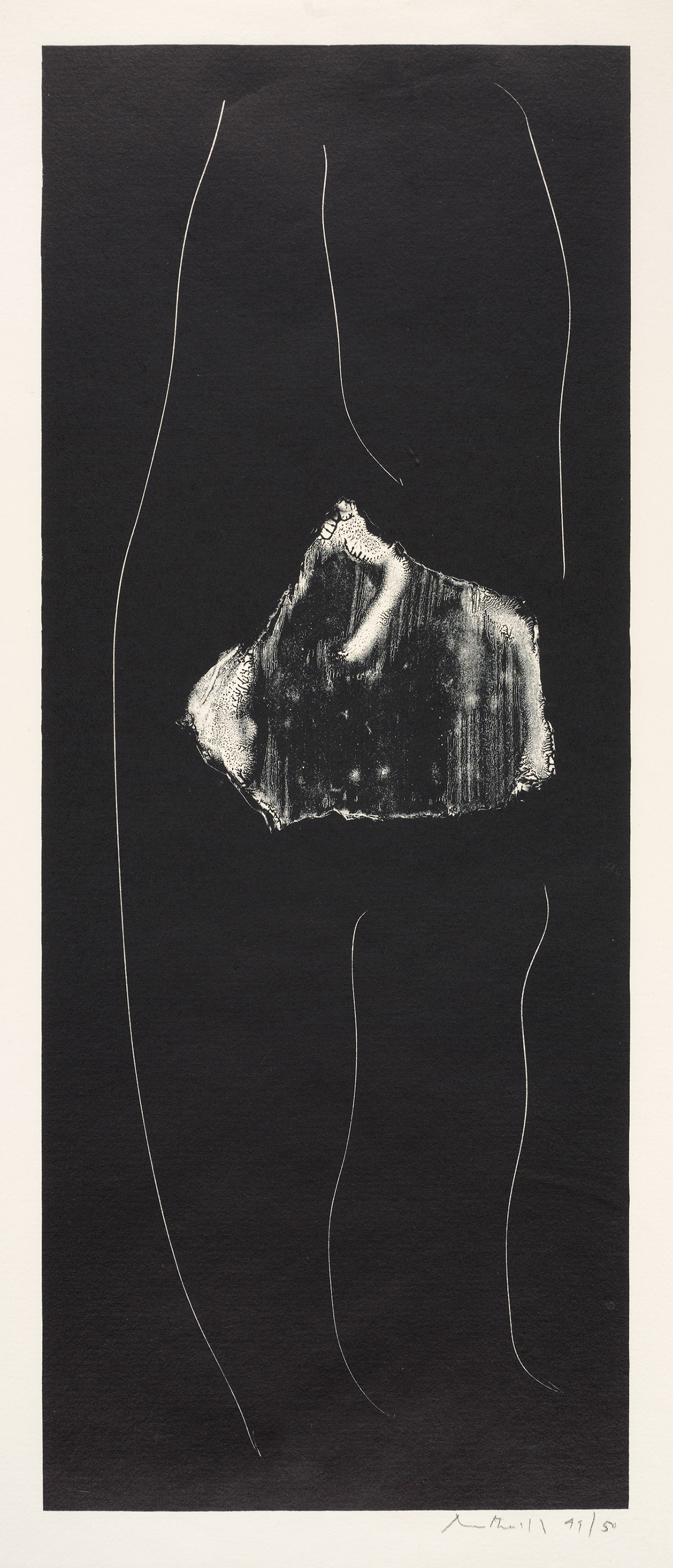 ROBERT MOTHERWELL Soot-Black Stones Series.