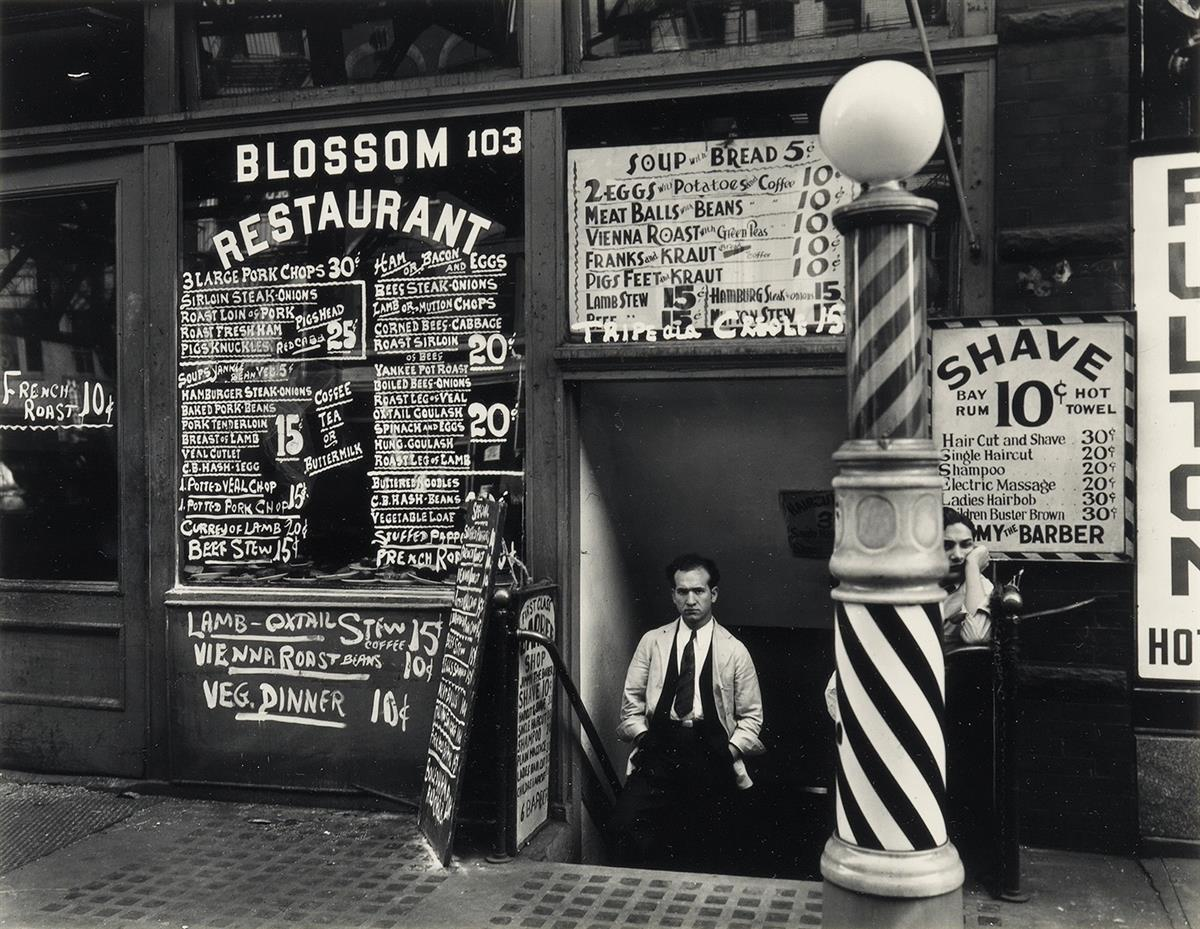 BERENICE-ABBOTT-(1898-1991)-Blossom-Restaurant-103-Bowery-NY