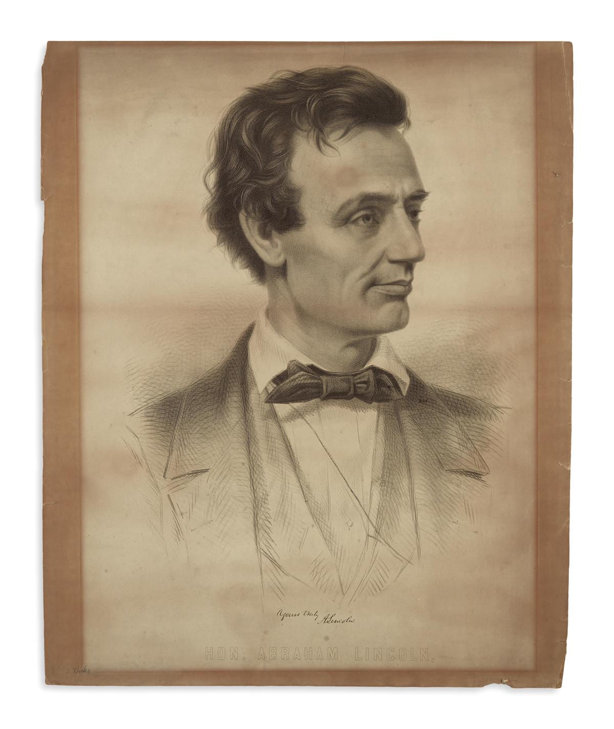 (PRINTS--1860-CAMPAIGN)-[Grozelier-after-Hicks-and-Hesler]-H