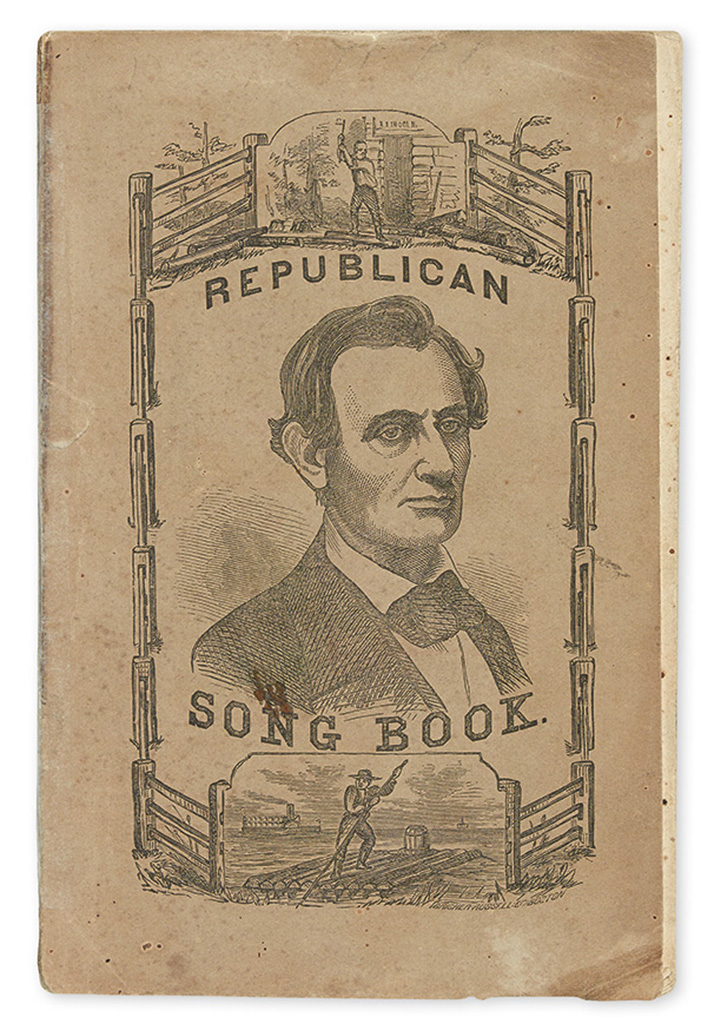 (LINCOLN, ABRAHAM.) Drew, Thomas; compiler. The Campaign of 1860: Republican Songs for the People.