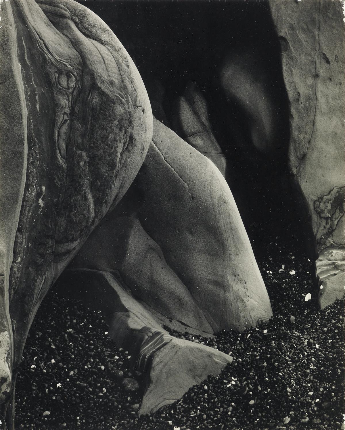 EDWARD-WESTON-(1886-1958)-Rock-Erosion-Point-Lobos