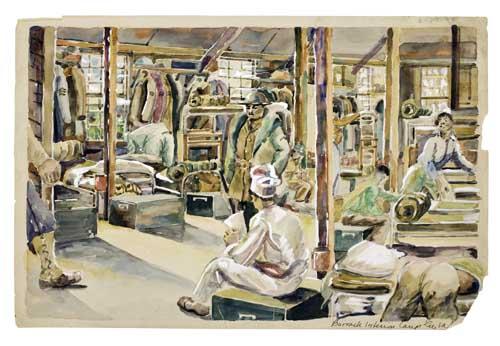 MASOOD-ALI-WILBERT-WARREN-(1907---1995)-Barrack-Interim-Camp