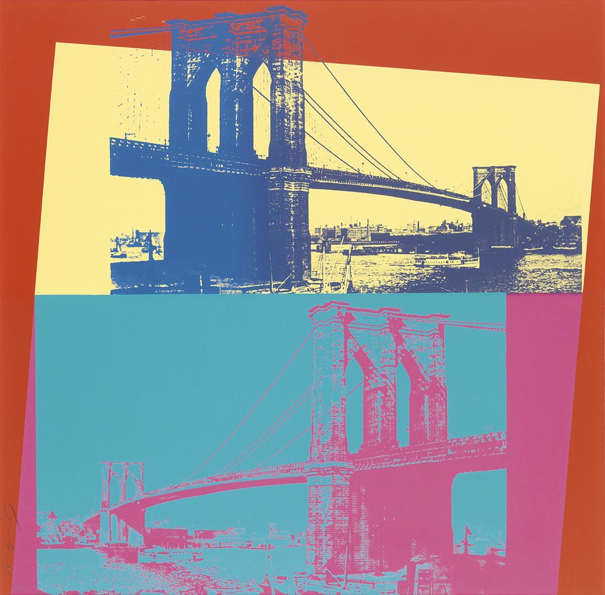 ANDY WARHOL Brooklyn Bridge.