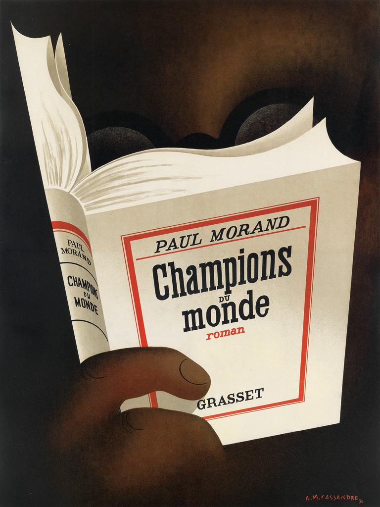 ADOLPHE MOURON CASSANDRE (1901-1968). CHAMPIONS DU MONDE. 1930. 25x19 inches, 64x48 cm.