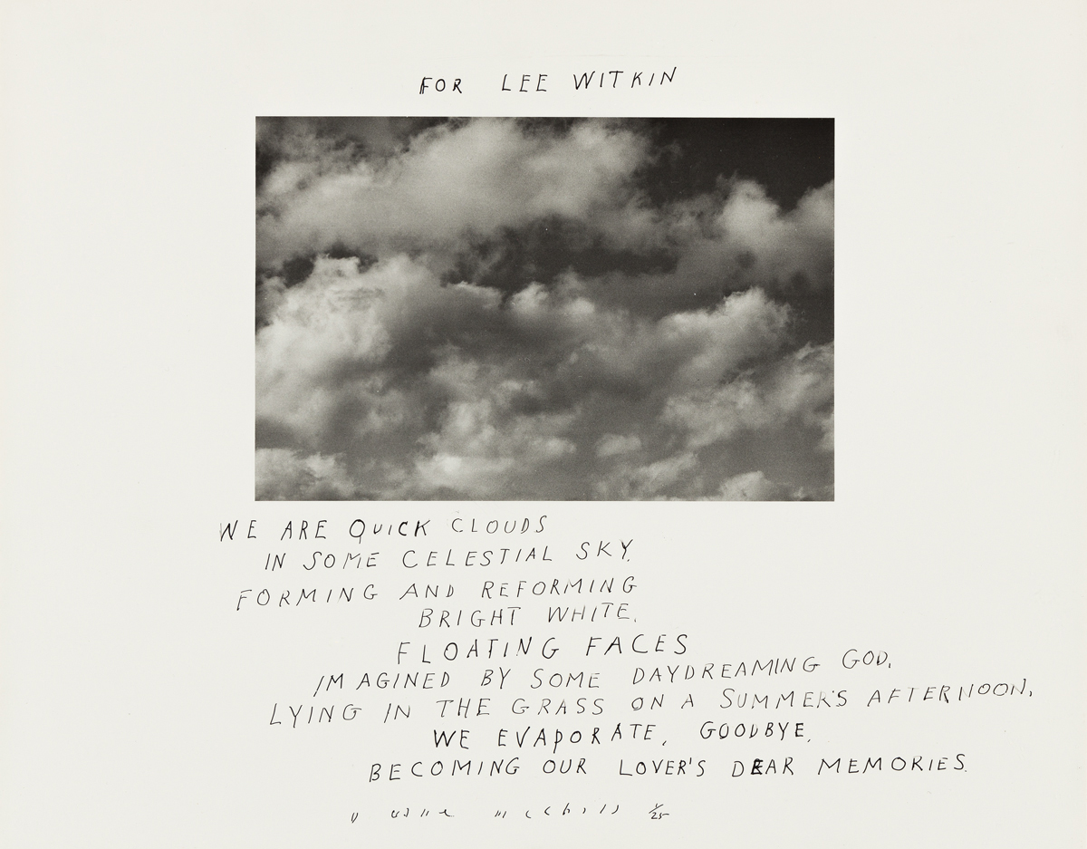 DUANE MICHALS (1932- ) We are quick clouds.