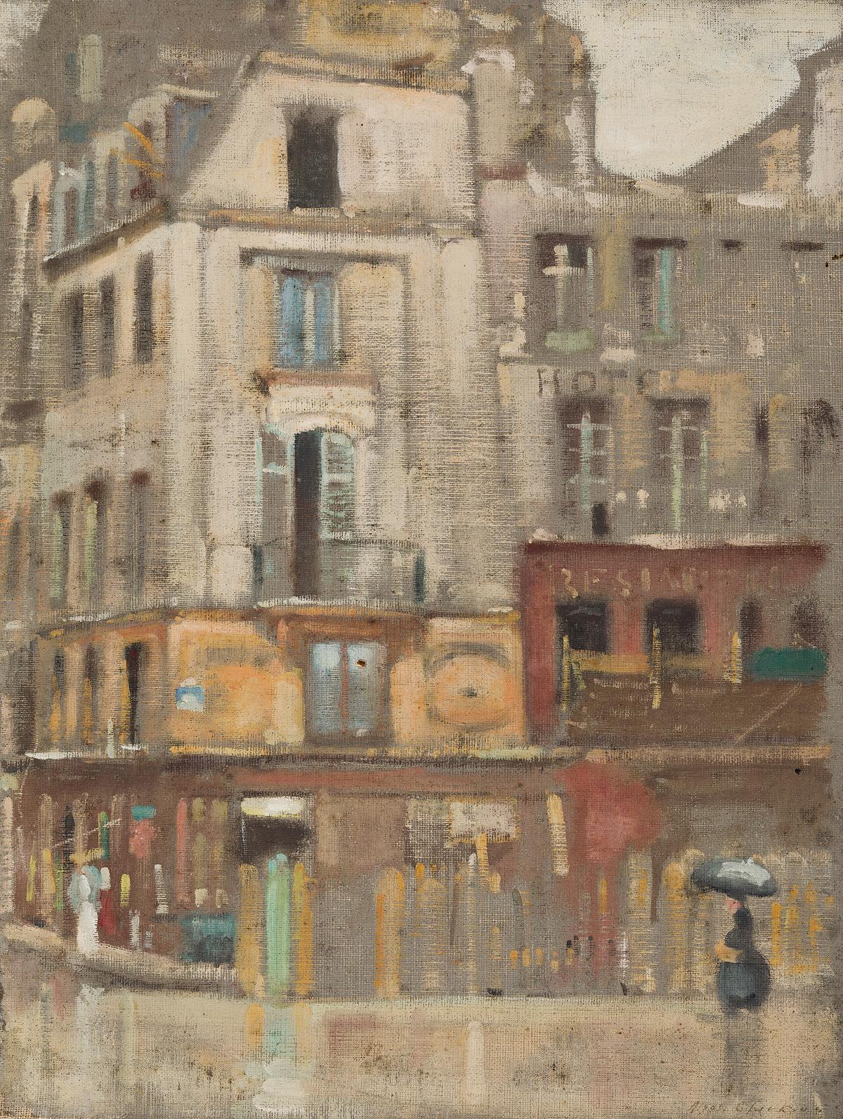 ALSON SKINNER CLARK Street Corner, Paris.